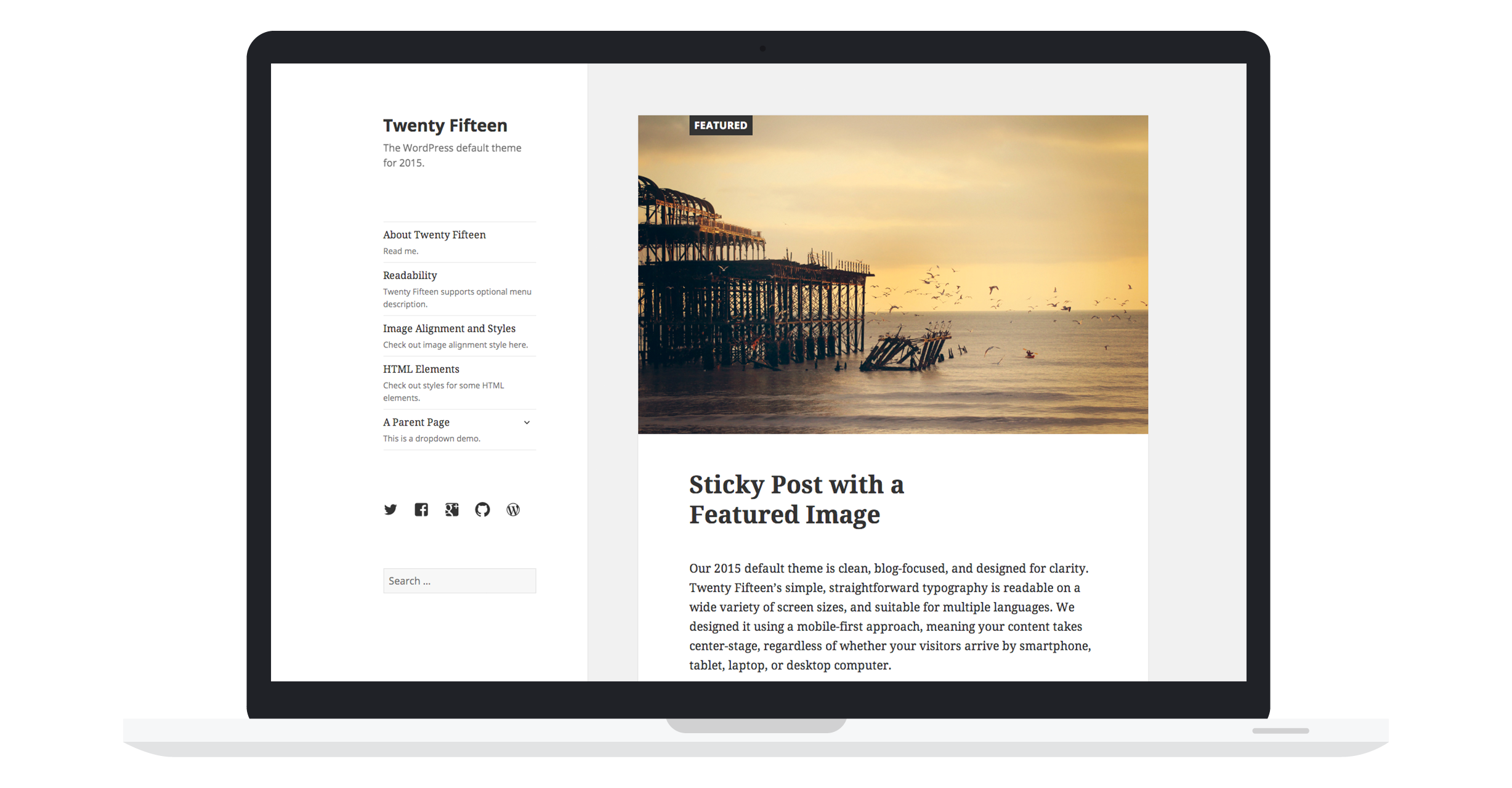 Twenty Fifteen ist neues Standard WordPress Theme