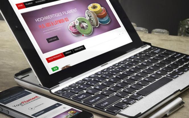 Screenshot des Online Shops von Your-Filament.com