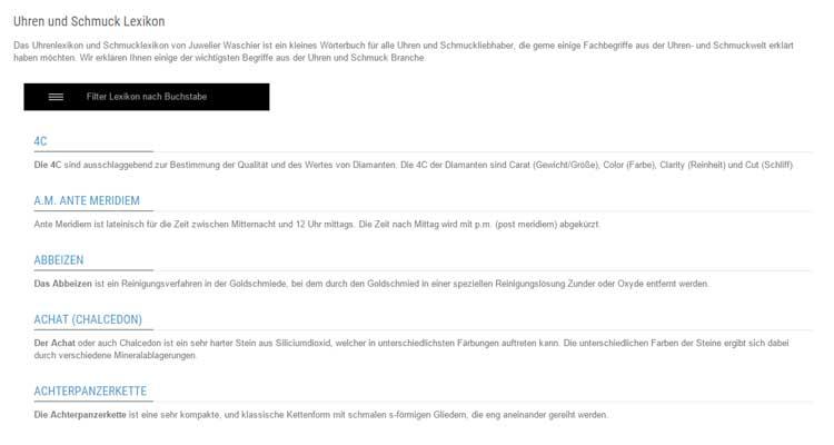 PrestaShop Modul: Glossary / Lexikon