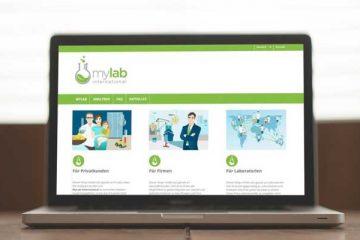 individuelles Webdesign für den my-lab PrestaShop Online Shop und WordPress als CMS