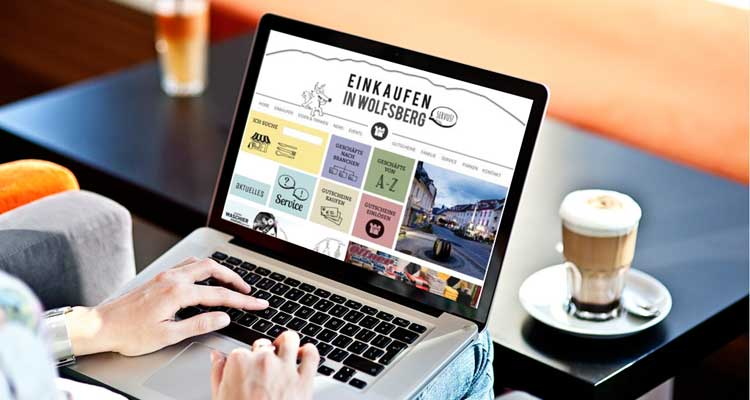 WordPress Webdesign für die Einkaufsstadt Wolfsberg