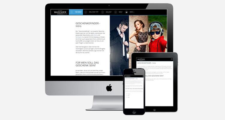 PrestaShop Konfigurator / Geschenkefinder für Juwelier Waschier