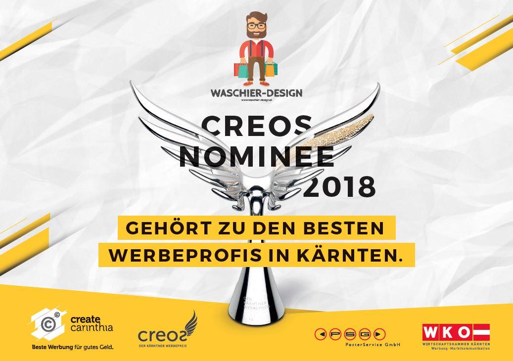 Nominiert für den Creos - 2018