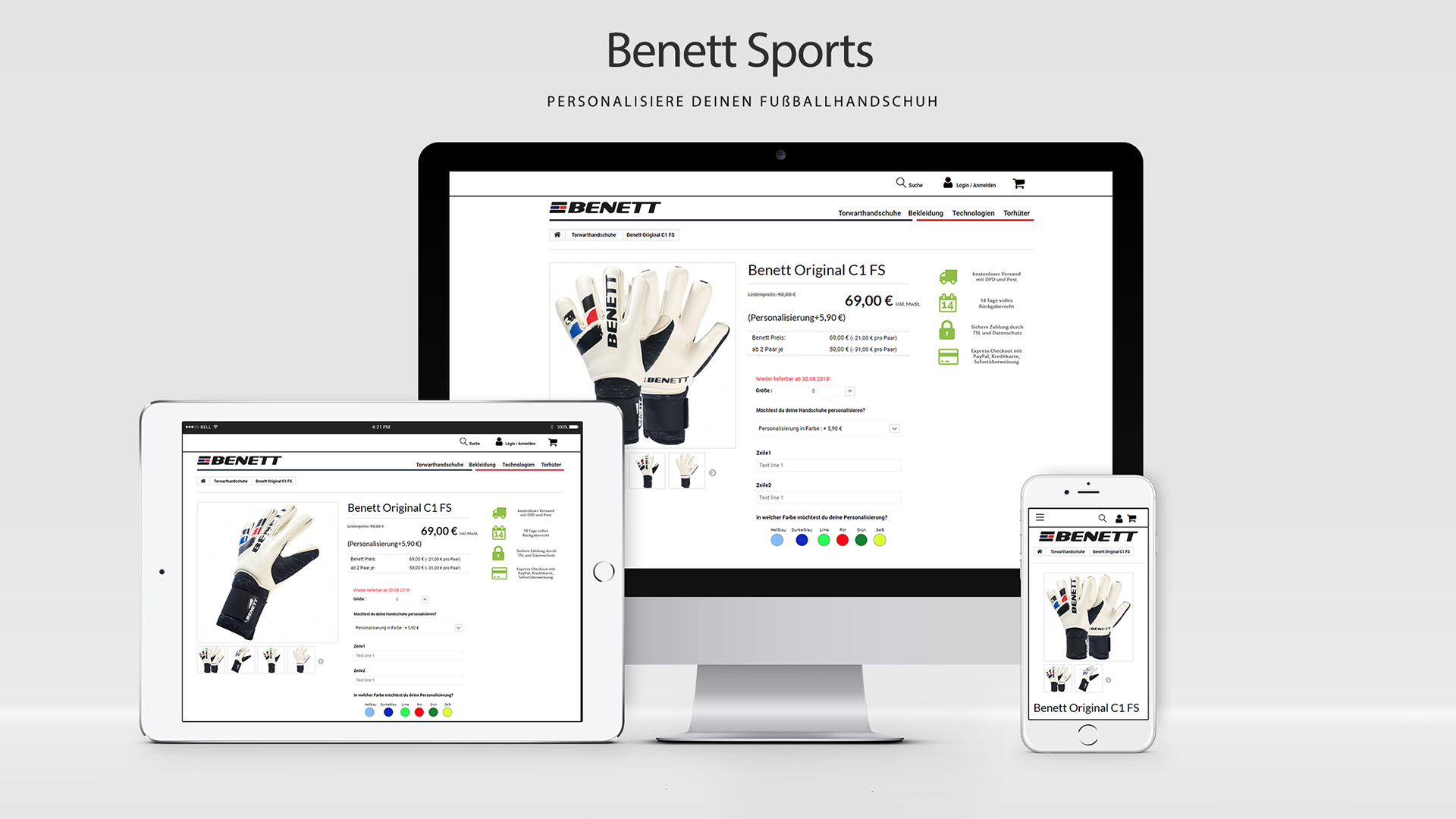 Benett Sports PrestaShop Produktkonfigurator