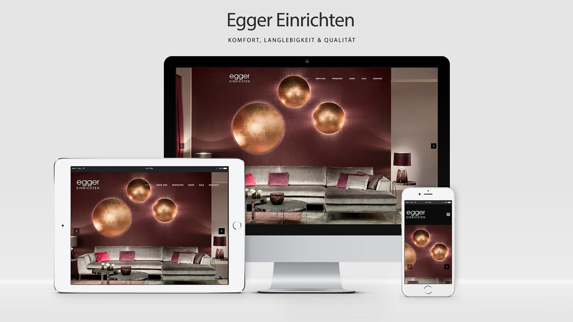 Egger Einrichten - WordPress Website, Webdesign Kärnten, Webdesign Wolfsberg