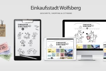 Corporate Design & Webdesign mit WordPress als CMS für die Einkaufsstadt Wolfsberg