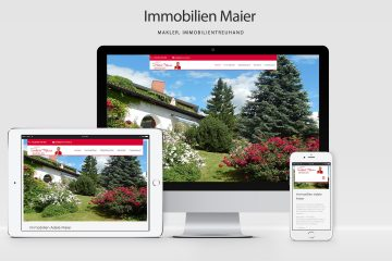 WordPress Webdesign Agentur - Screenshot Immobilien Maier