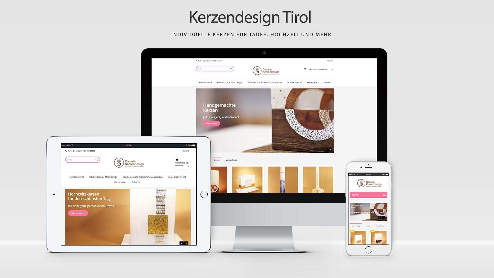 Kerzendesign Tirol - Online Shop auf Basis von PrestaShop