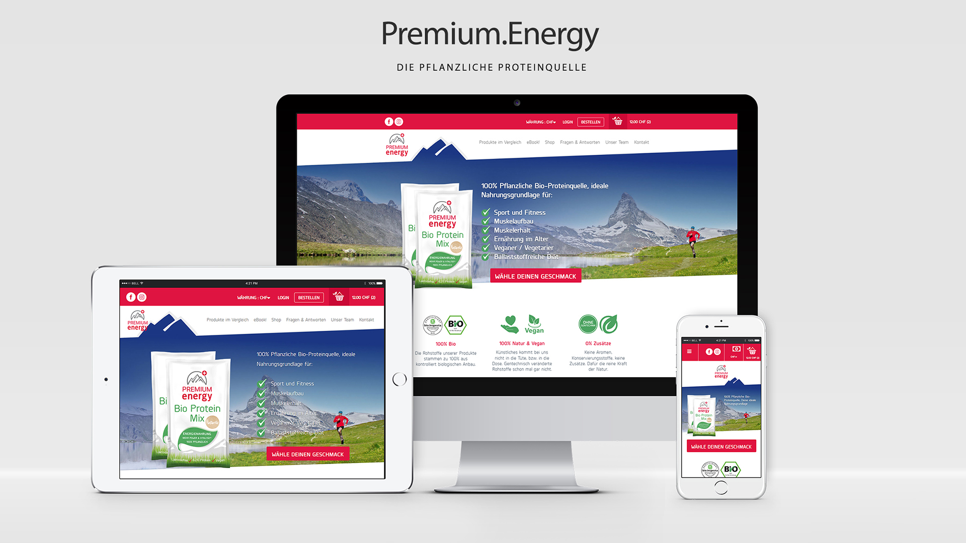 Premium Energy PrestaShop mit Drag & Drop CMS
