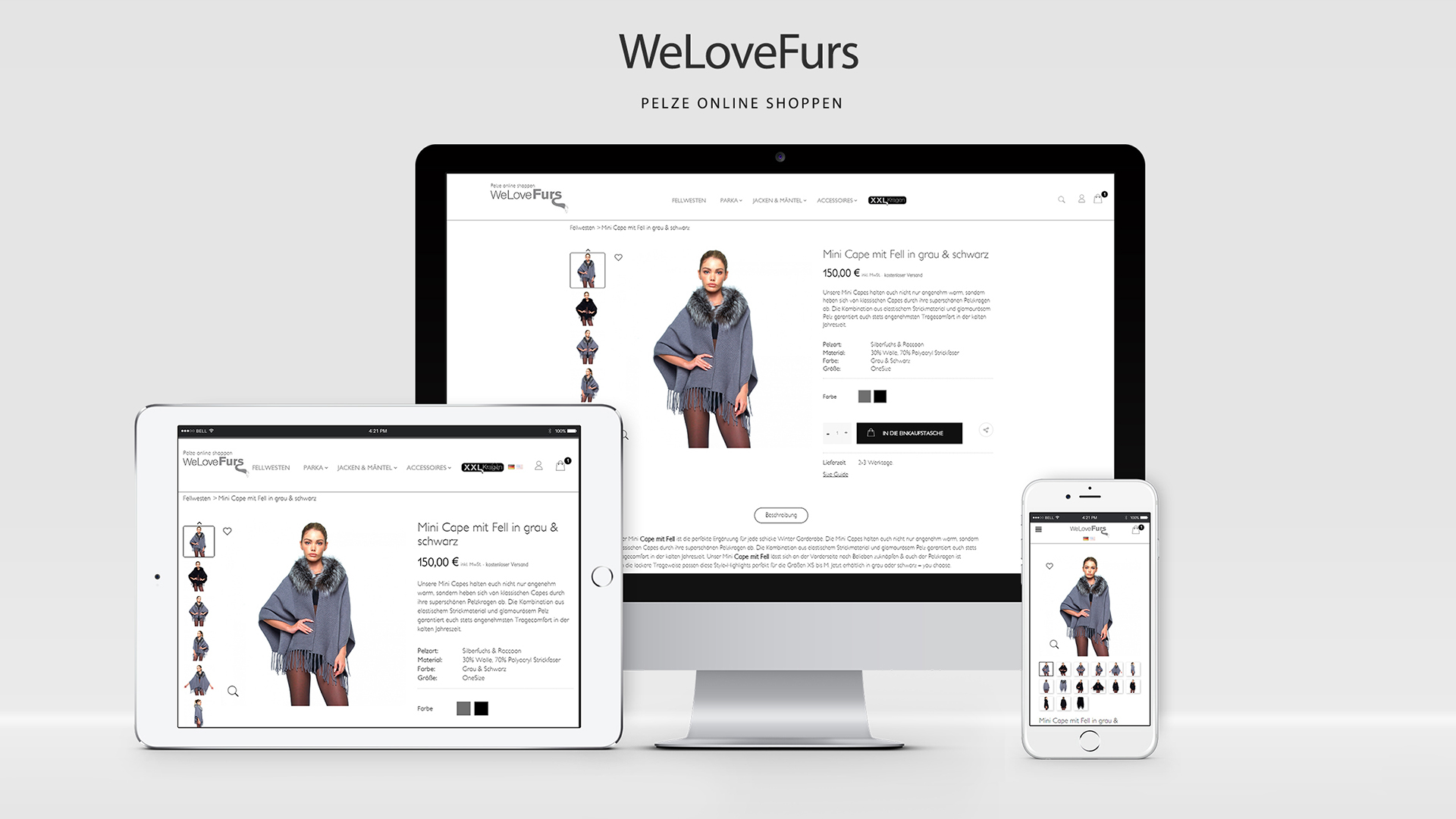 WeloveFurs PrestaShop Online Shop Design