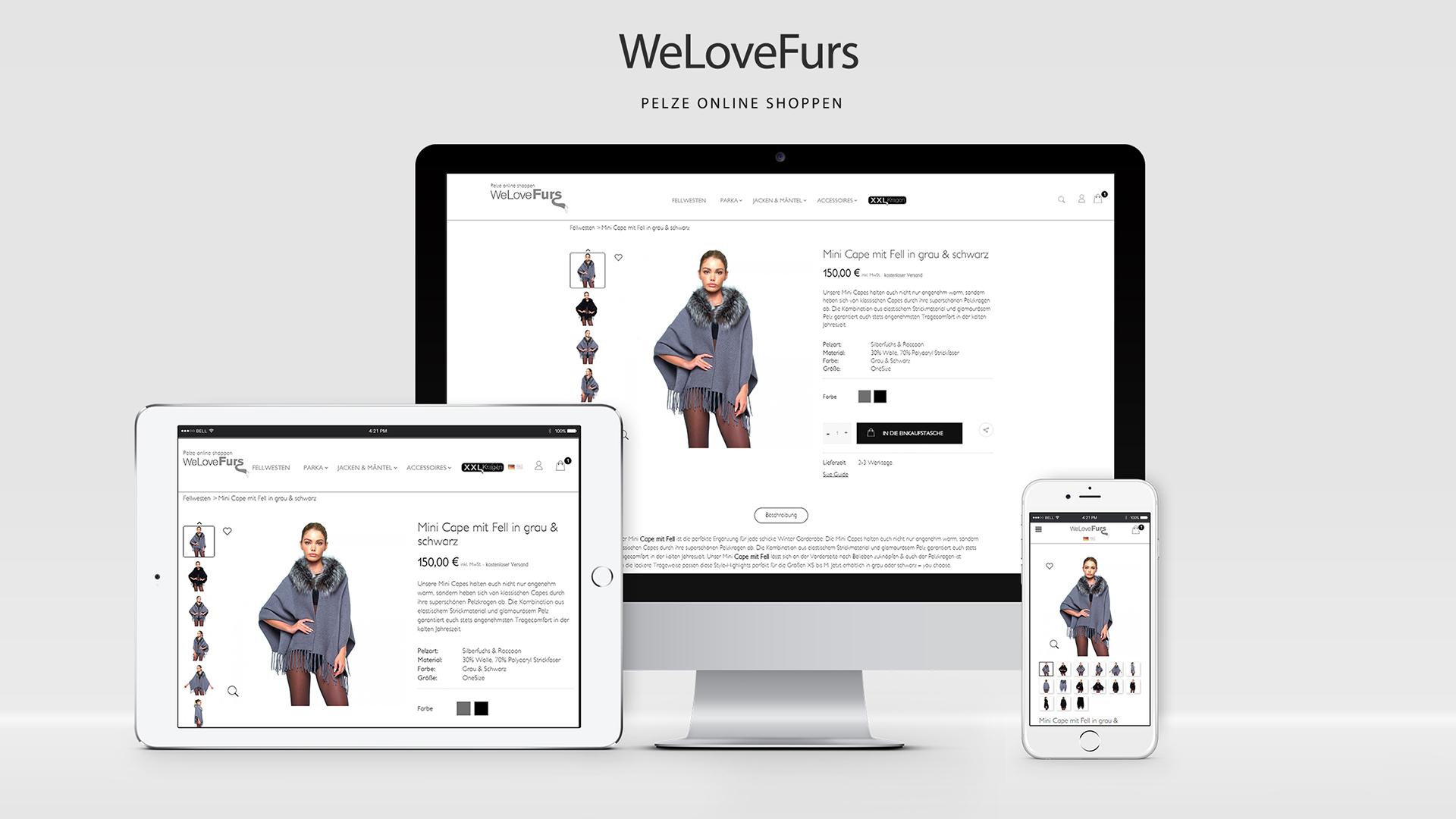 WeLoveFurs – Prestashop Konfigurator – Online Shop Relaunch