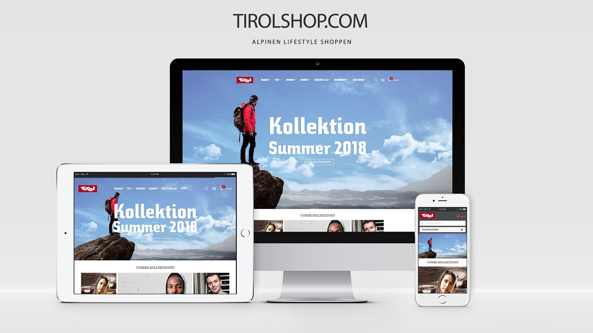 Tirolshop.com – Online Shop Relaunch