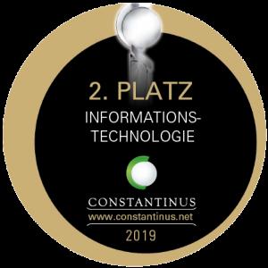 Beim Constantinus Award haben wir mit unserem E-Commerce / Online Shop Projekt den 2.ten Platz gewonnen